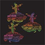 Typographic whirling dervishes. Whirling dervish was created with typographic design Stock Image