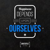 Typographical background with classic quote. Stock Photos