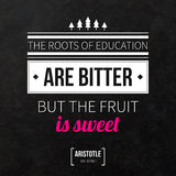 Typographical background with classic quote. Royalty Free Stock Image