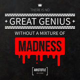 Typographical background with classic quote. Royalty Free Stock Photo