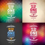 Typographical Background Illustration with quote of Winston Churchill.Geometric patters and paper background Royalty Free Stock Photography