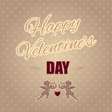 Typographical banner Happy Valentine's Day Royalty Free Stock Image