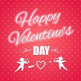 Typographical banner for Valentine's Day Royalty Free Stock Images