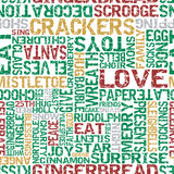 Typographical Christmas Themed Seamless Tile. Stock Images