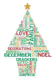 Typographical Christmas Tree. Royalty Free Stock Image