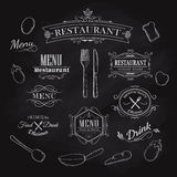 Typographical Element for Menu restaurant blackboard vintage Royalty Free Stock Photography