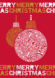 Typographical Merry Christmas Bauble. Stock Photography