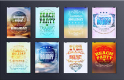 Typographical poster, retro design Royalty Free Stock Images
