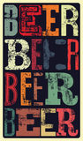 Typographical vintage style Beer poster design. Retro grunge vector illustration. Royalty Free Stock Photo