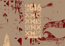 Typographical vintage style Christmas card or poster design. Retro grunge vector illustration. Stock Photos