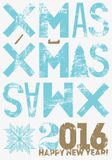 Typographical vintage style Christmas card or poster design. Retro grunge vector illustration. Royalty Free Stock Photo