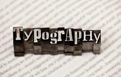 Typographie photographie stock libre de droits
