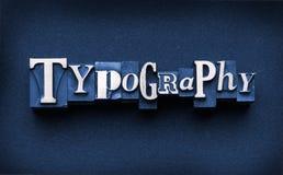 Typographie Image stock