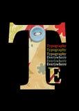 typographie lizenzfreie stockbilder