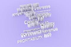 Typographie abstraite de cgi, mots-clés liés au marché Papier peint pour la conception graphique Gris, amortissement, gouvernemen photos libres de droits