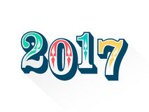 Typographie colorée de 2017 Images libres de droits