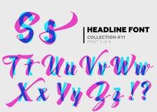 Typographie décorative expressive illustration libre de droits