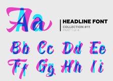 Typographie décorative expressive illustration stock