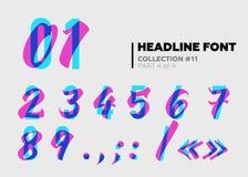 Typographie décorative expressive Type d'affichage avec le problème Overl illustration de vecteur