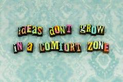 Typographie d'ambition de zone de confort de conseil d'idée images stock