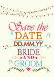 Typographie d'invitation de mariage Images libres de droits