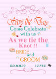 Typographie d'invitation de mariage Photo stock