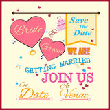 Typographie d'invitation de mariage Image stock