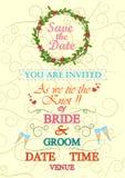Typographie d'invitation de mariage Photos stock