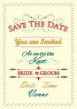 Typographie d'invitation de mariage Image libre de droits