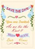 Typographie d'invitation de mariage Photos libres de droits