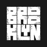 Typographie de Brooklyn dans un style grunge Photographie stock libre de droits