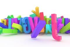 Typographie de cgi d'abrégé sur fond, lettre d'ABC, alphabet bon illustration libre de droits