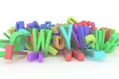 Typographie de cgi d'abrégé sur fond, lettre d'ABC, alphabet bon illustration stock