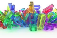 Typographie de cgi, lettre d'ABC, alphabet pour la texture de conception, dos illustration stock