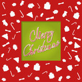Typographie de Christmascard, écriture, cutted Image stock