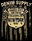 Typographie de denim de l'Amérique de vintage ; graphiques de T-shirt ; vecteurs Photographie stock libre de droits