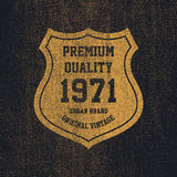 Typographie de denim de vintage, graphiques grunges de T-shirt Photos libres de droits