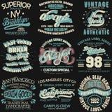 Typographie de denim, graphiques de T-shirt illustration stock