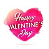 Typographie de jour du ` s de Valentine avec le coeur Photographie stock