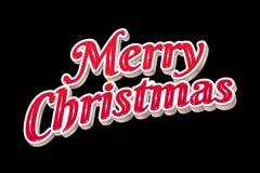 Typographie de Joyeux Noël Photographie stock libre de droits