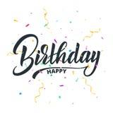 Typographie de lettrage de joyeux anniversaire pour la carte de voeux Carte d'invitation de vacances d'anniversaire Photographie stock