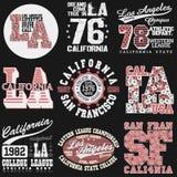 Typographie de mode de T-shirt de la Californie Image stock