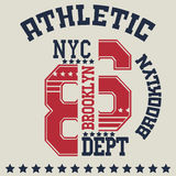 Typographie de New York Images libres de droits