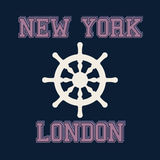 Typographie de New York Londres, graphiques de T-shirt Vecteur Illustratio Photos stock