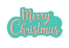 Typographie de Noël, design de carte de salutation de lettrage d'écriture illustration libre de droits