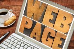 Typographie de page Web Photos libres de droits