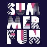 Typographie de T-shirt d'amusement d'été, illustration de vecteur Photos libres de droits