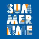 Typographie de T-shirt d'heure d'été, illustration de vecteur Images libres de droits