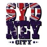Typographie de T-shirt de Sydney City, illustration de vecteur Images libres de droits