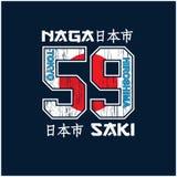 Typographie de Tokyo pour le T-shirt et d'autres usages illustration de vecteur